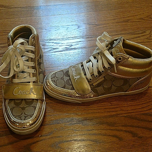37944ffd0 Coach Shoes | Womens Gold Sneakers | Poshmark